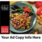 Recipes monthly calendar. Open size is 10 5/8