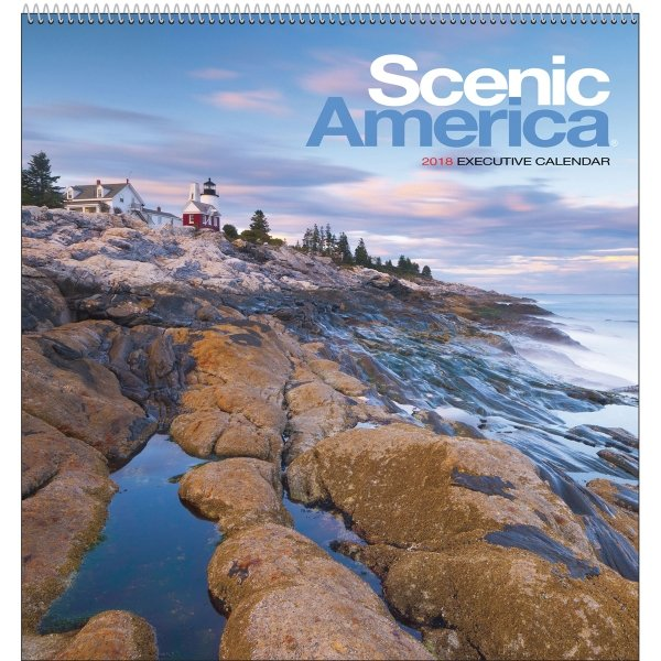 ncredible scenic photography from all across America is reproduced in all its glory on this Executive calendar.