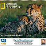 National Geographic Animals Wall Calendar
