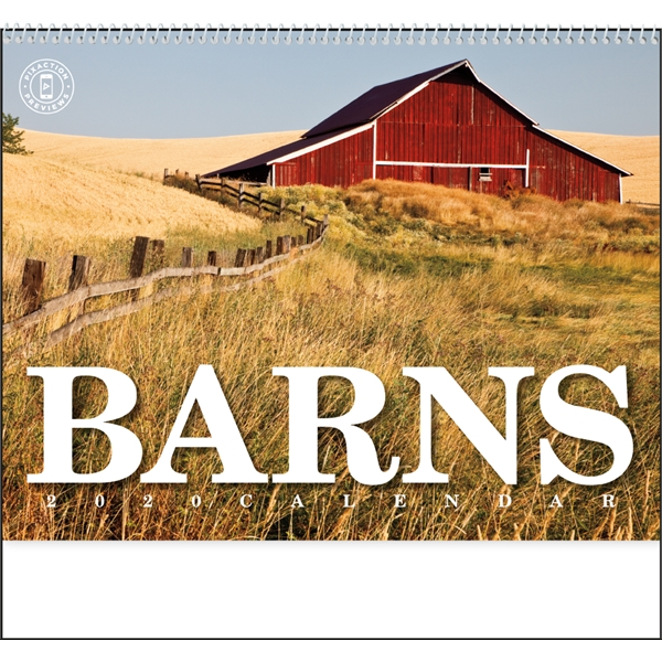 Calendars with American barns for every month in 2020