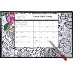doodle pad coloring desk calendar
