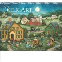 Folk art calendar for 2020