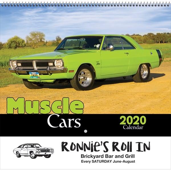 Muscle Car calendar for 2020