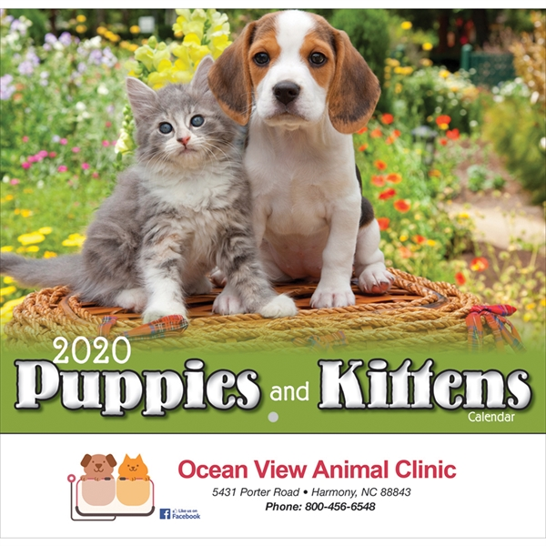 Puppies and Kittens calendar 2020