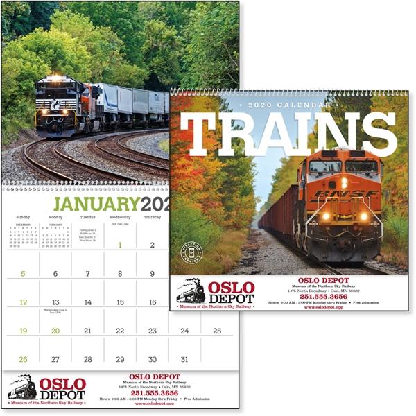 2020 trains calendar